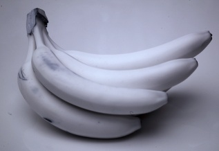 Infrared photo of bananas