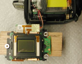 Nikon D90 sensor assembly after replacing hot filter