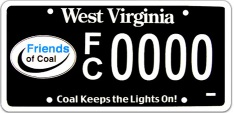 Friends of Coal License Plate