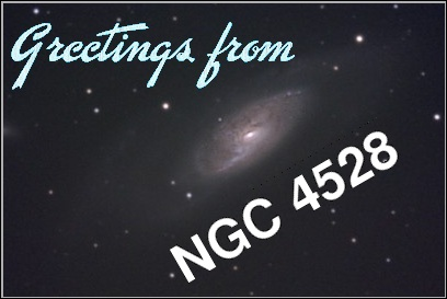 Postcard from galaxy NGC 4528