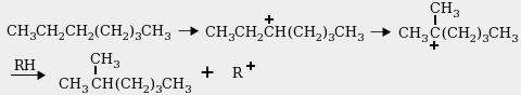 Heptane isomerization reaction
