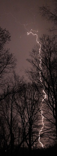 Infrared photo of lightning