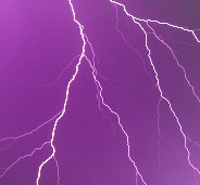 Ultraviolet photo of lightning