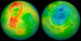 Ozone hole over north pole