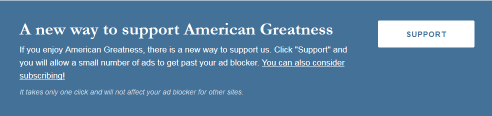 Paywall at American Greatness