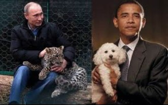 Photo of Putin and Obama tweeted by Dmitry Rogozin