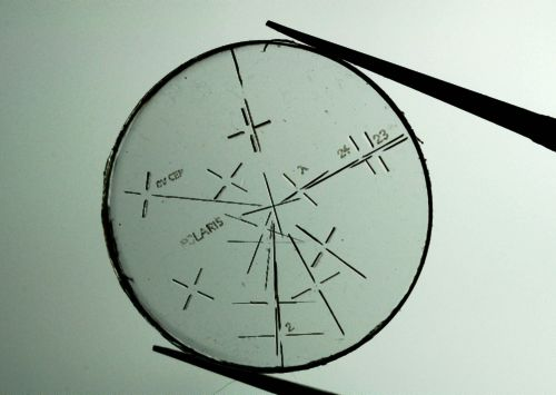 Reticle with radial lines