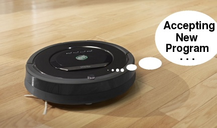 Roomba accepting new programming