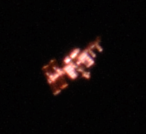International Space Station viewed from the ground