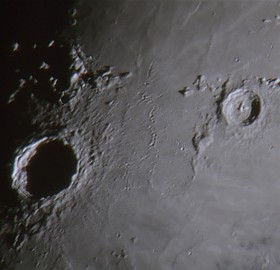 Moon craters Copernicus and Eratosthenes