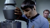 Mister Spock in an intimate moment with a robot