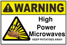 Warning high power microwaves sign